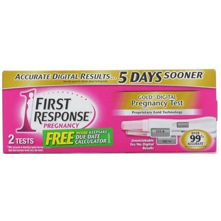 FIRST RESPONSE Gold Digital Early Result Pregnancy Tests 2 Each (Pack of
