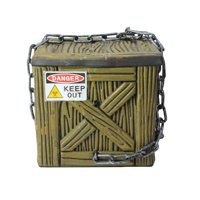 """Northlight 6"""" Geometric Square Chained Shaking Box Halloween Accent Decoration - Black/Brown"""