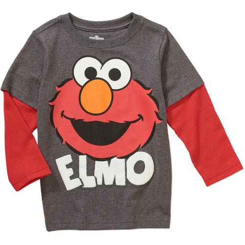 Elmo Sesame Street Toddler Boy Hangdown Graphic Tee Shirt