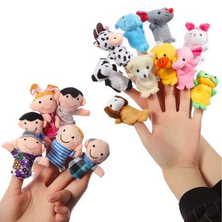 Plush Finger Puppets Story Time Playtime Cute Animal Dolls 16 PCS