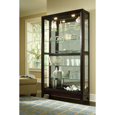 Darby Home Co Nancy Lighted Curio Cabinet