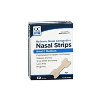 2 Pack Quality Choice Nasal Strips Congestion Relief Small/Medium 30 Strips each