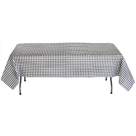 Houndstooth Plastic lined paper Table Cover 54