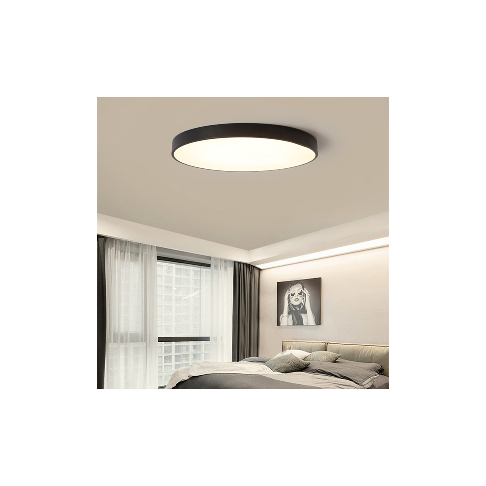 11W LED Ceiling Light Fixture with Remote Control Dimmable Color LED  Ceiling Lights Surface Mount Fixture for Living Room Bedroom Dining Room