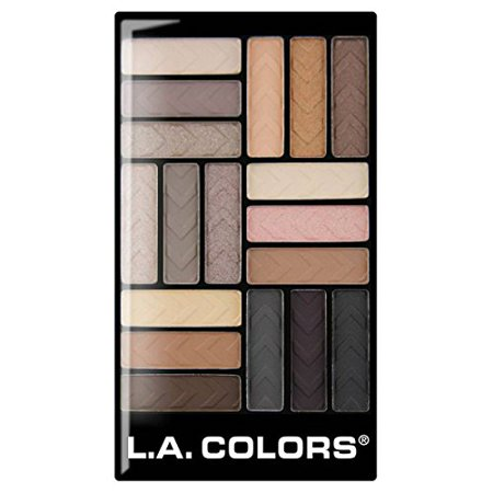 L.A. Colors 18 Color Eyeshadow Palette, Downtown Brown, 0.70 Ounce (Standard Downtown La Halloween)