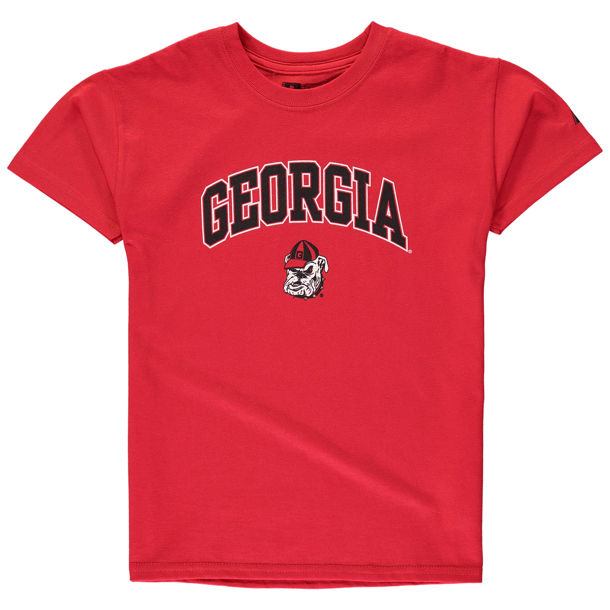 Youth Russell Red Georgia Bulldogs Team 1 Crew Neck T-Shirt