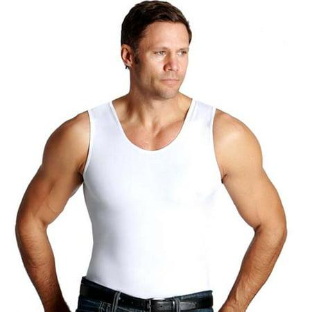 15c4c2f4 Insta Slim - Insta Slim Men's Compression Muscle Tank Shirt - White -  Medium - Walmart.com