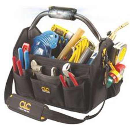 Clc Tech Gear Led Lighted Handle 15 In. Open Top Tool Carrier