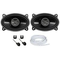 "Hifonics 4x6"" Front Factory Speaker+Harness For 1997-2002 Jeep Wrangler Tj"