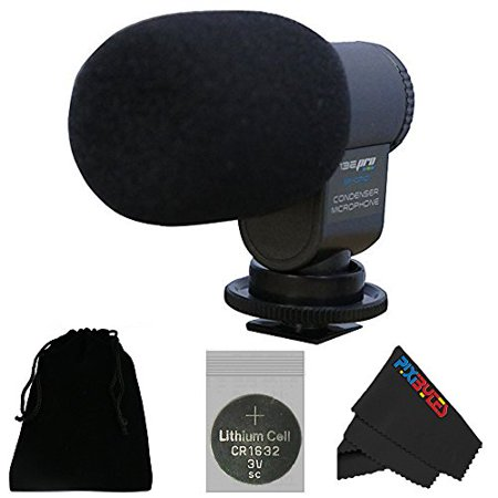 I3ePro BP-CMIC1 X-Series Mini Shotgun Condenser Microphone for Sony HDR-XR550V Camcorder (Grey)