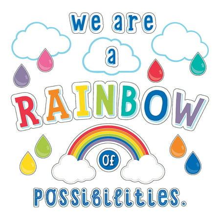 Fun Express - Sgs Hello Sunshine Rainbow Bb Set - Educational - Classroom Decorations - Bulletin Board Decor - 67 Pieces Classroom Bulletin Board Decorations