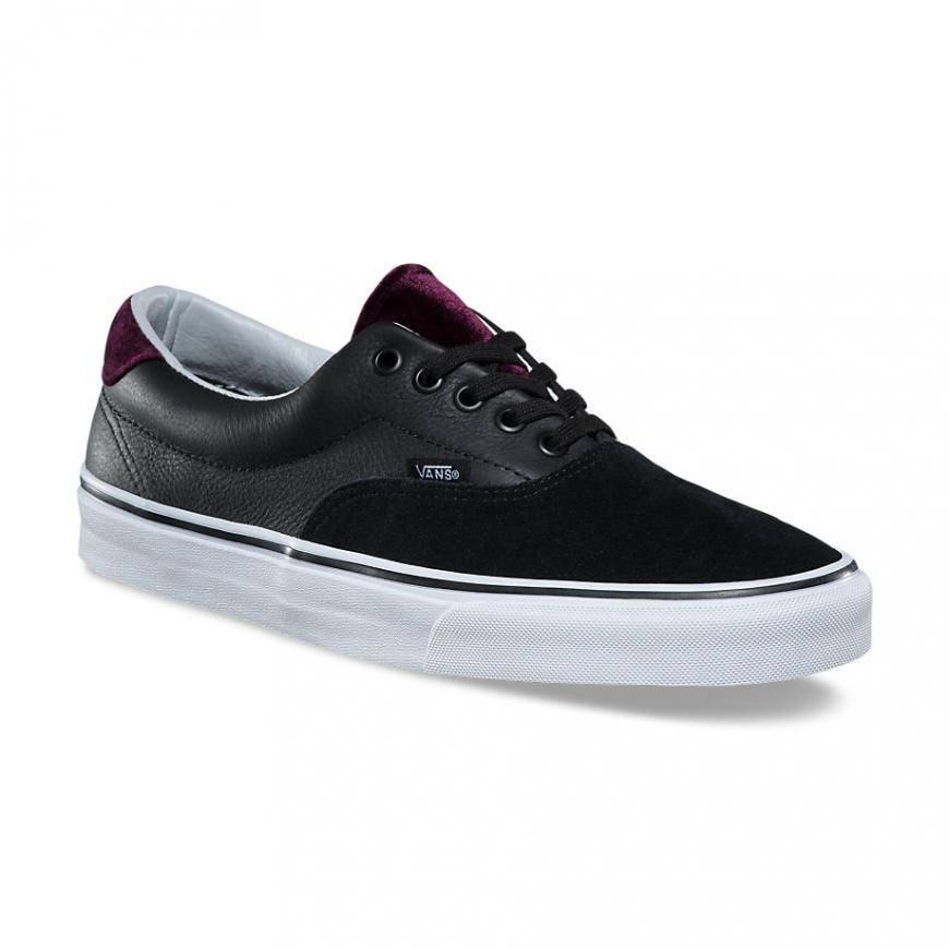 Vans Era 59 Velvet Black/Red Men's Classic Skate Shoes Size 11