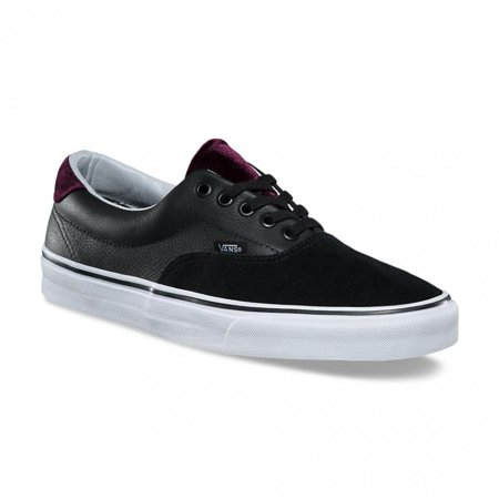7f0877948d6379 Vans - Vans Era 59 Velvet Black Red Men s Classic Skate Shoes Size 13 -  Walmart.com