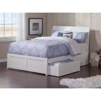 Pemberly Row Full Storage Platform Bed in White