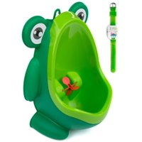 Potty Training Baby/Toddler Urinal with Aiming Target & Potty Watch Training Watch - Green Frog