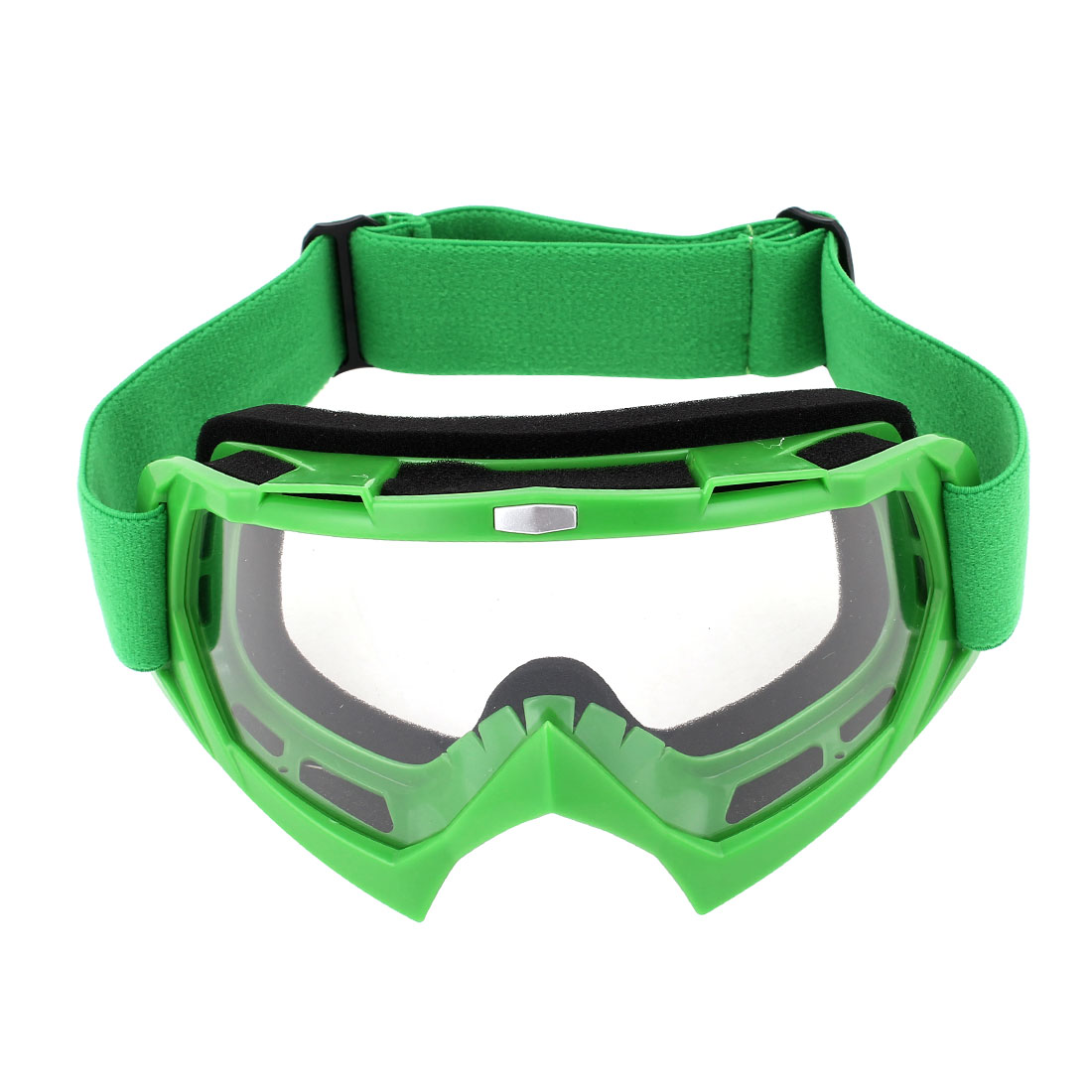 Unique Bargains Plastic Frame Wide Lens Adjustable Elastic Strap Eyewear Ski Goggles by Unique-Bargains