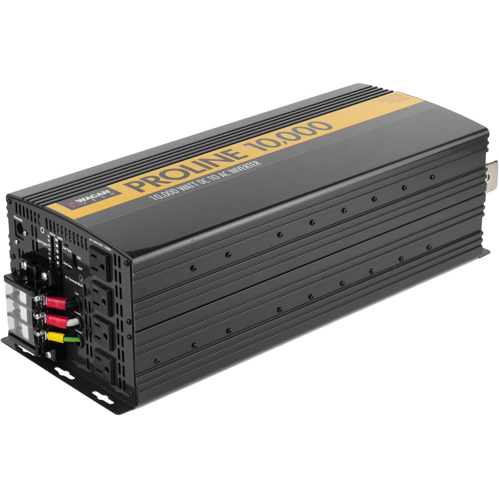 Wagan 10,000 Watt Proline DC to AC Power Inverter plus Remote
