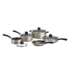 Tramontina 9-Piece Non-Stick Cookware Set, Champagne