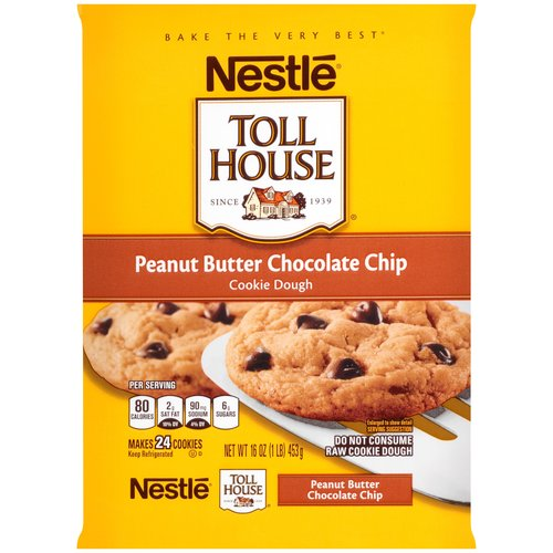 Nestle Toll House Peanut Butter Chocolate Chip Cookie Dough, 16 oz
