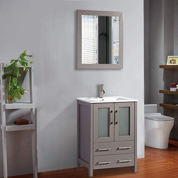 Vanity Art 24 Inch Single Sink Bathroom Vanity Set Modern Small