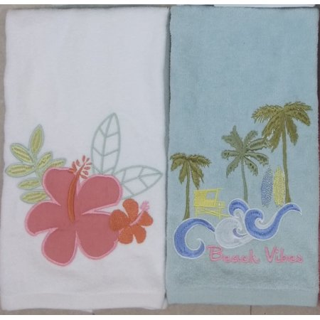 2-Pack Beach Themed Hand Towel Set (Theme Beach)