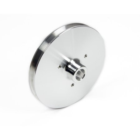 March Performance 531 Clear Powdercoat Aluminum 1 Groove Press Fit Power Steering Pulley