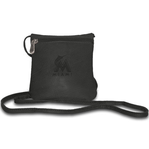 Pangea Black Leather Women's Mini Bag - Cleveland Indians Cleveland Indians PANGBBCLEWMB