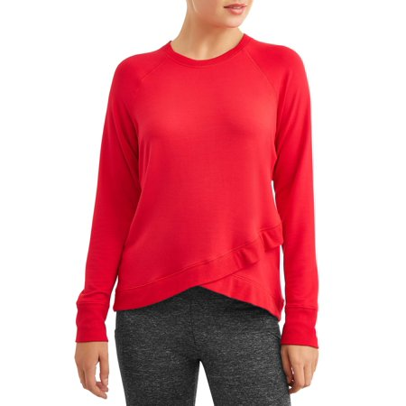 Women's Criss Cross Hem Long Sleeve Sweatshirt