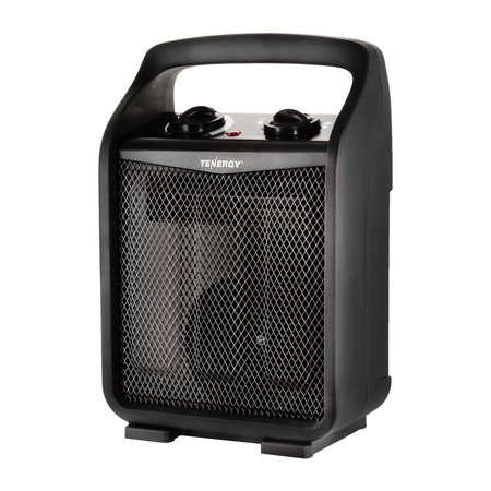 Tenergy Portable Space Heaters with Adjustable Thermostat 1500W/750W Air Recirculating Electric