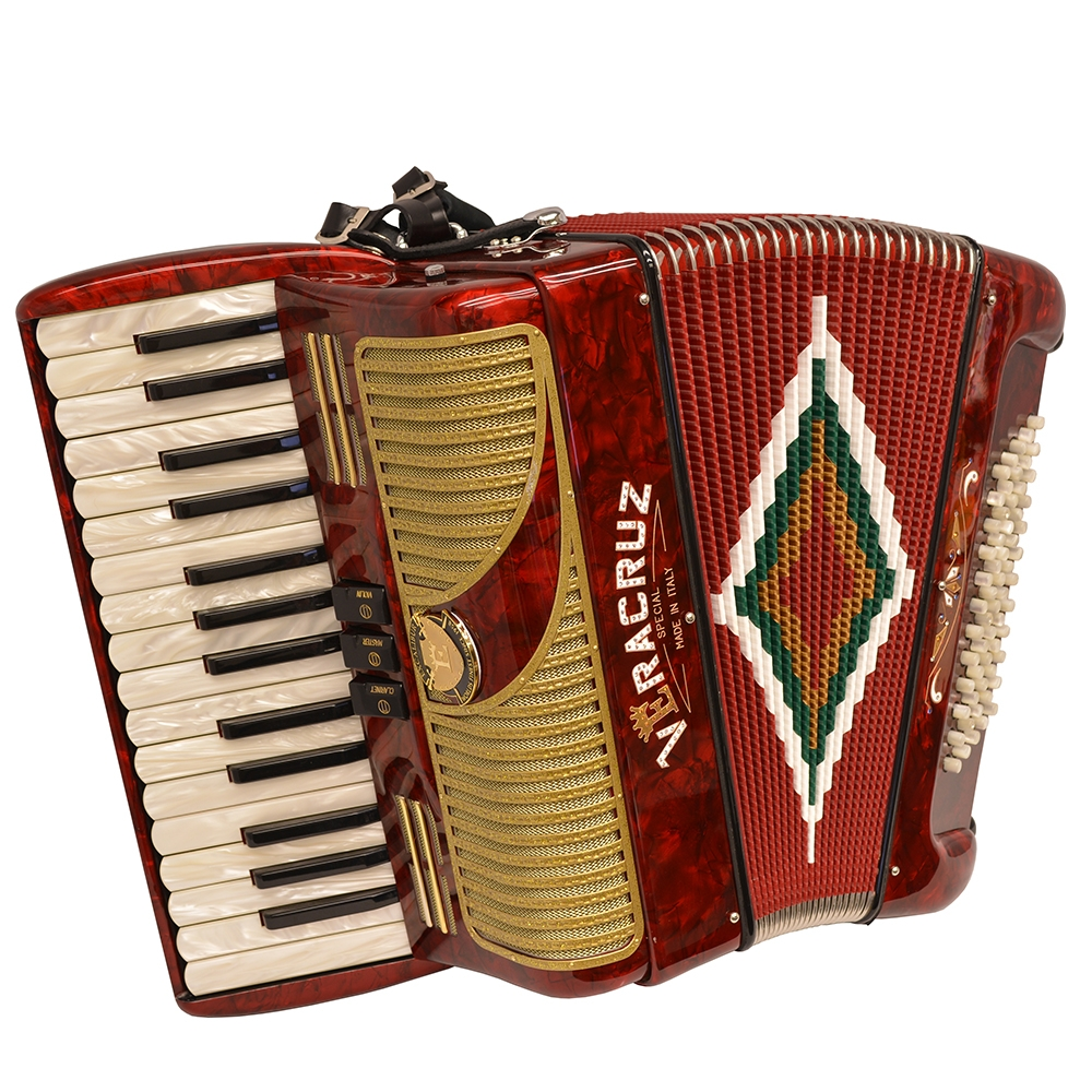 Excalibur Veracruz MII 60 Bass Piano Accordion Red & Gold by