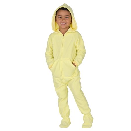 c7f7ae25a Footed Pajamas - Footed Pajamas - Mellow Yellow Toddler Hoodie ...