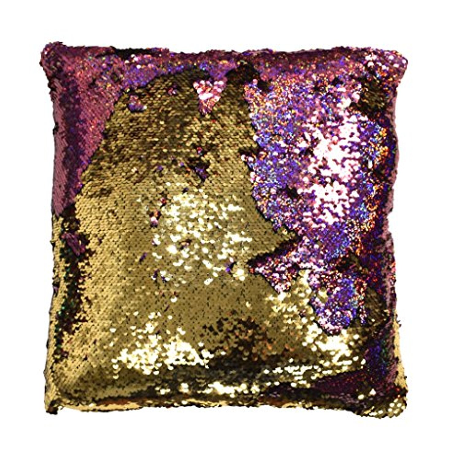 Couture Home Collection Haute Du0026#xE9;cor Reversible Sequin Decorative Color  Changing Mermaid Throw