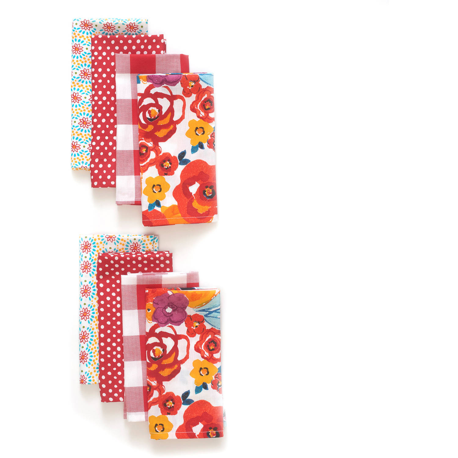 The Pioneer Woman Flea Market Napkin Set, 8pk, Red
