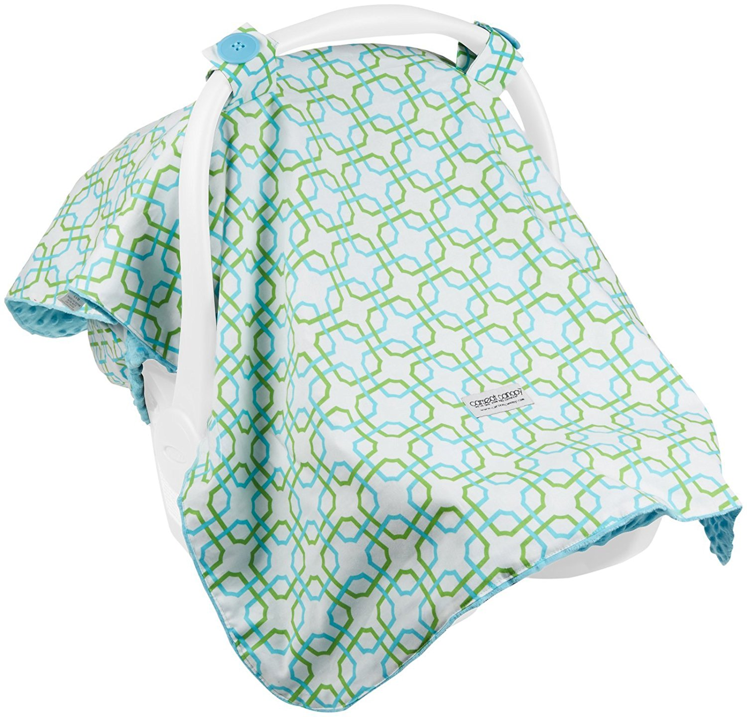 Carseat Canopy Baby Car seat Cover Blanket with Minky interior Hayden