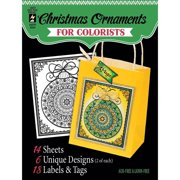 """Hot Off The Press Colorist Coloring Book 5"""" x 6"""", Fancy Christmas"""