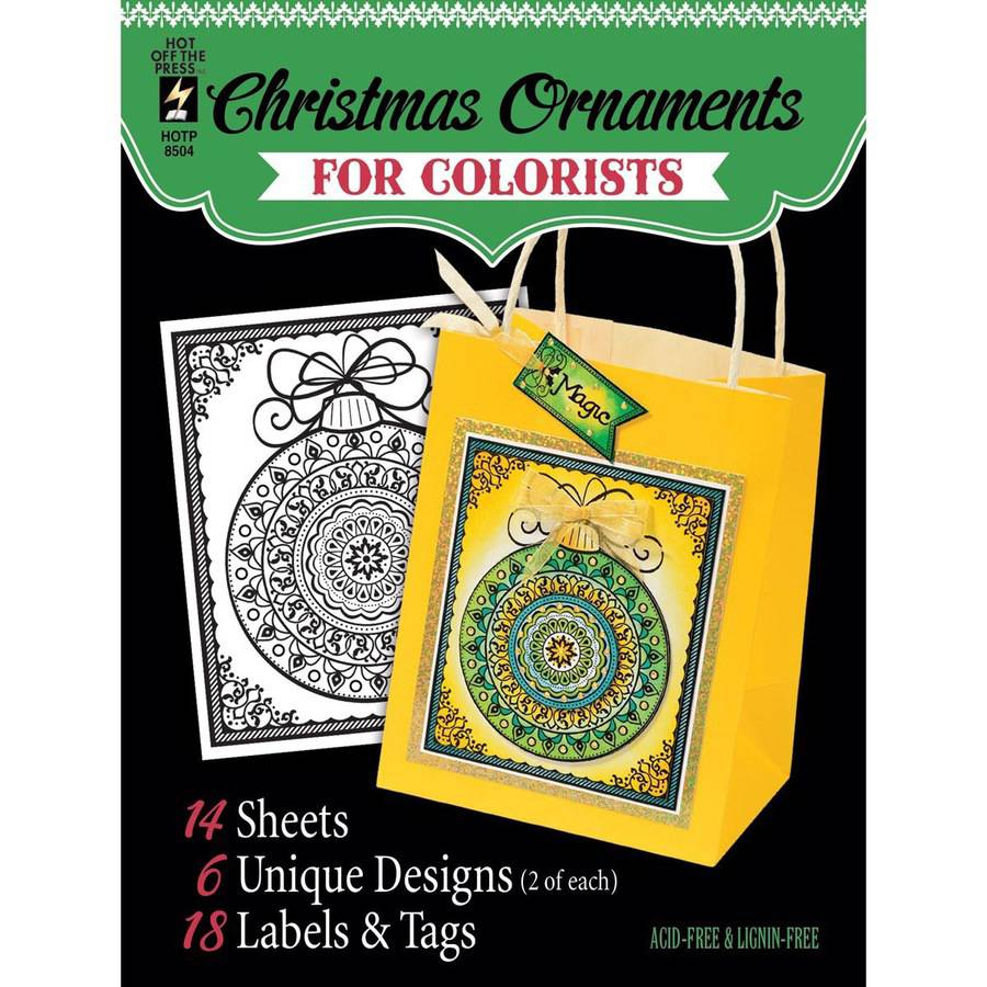 "Hot Off The Press Colorist Coloring Book 5"" x 6"", Fancy Christmas"