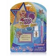 Pinkleaf 3D Glitter Tattoos & Body Art Kit For Boys & Girls, Indoor/Outdoor Fun Set