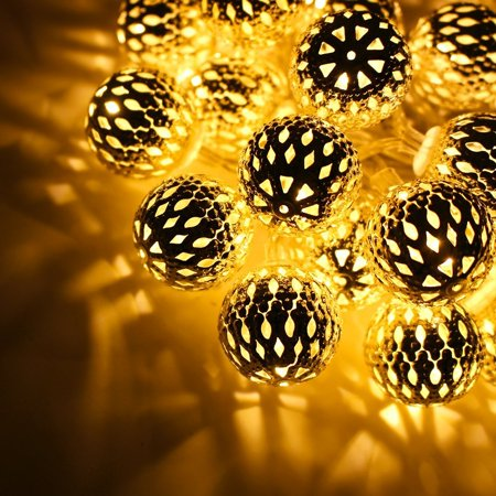 TORCHSTAR Moroccan Globe Fairy String Lights, for Christmas, Holidays, Parties, Events, Bedroom Decoration - Halloween Event Name Generator