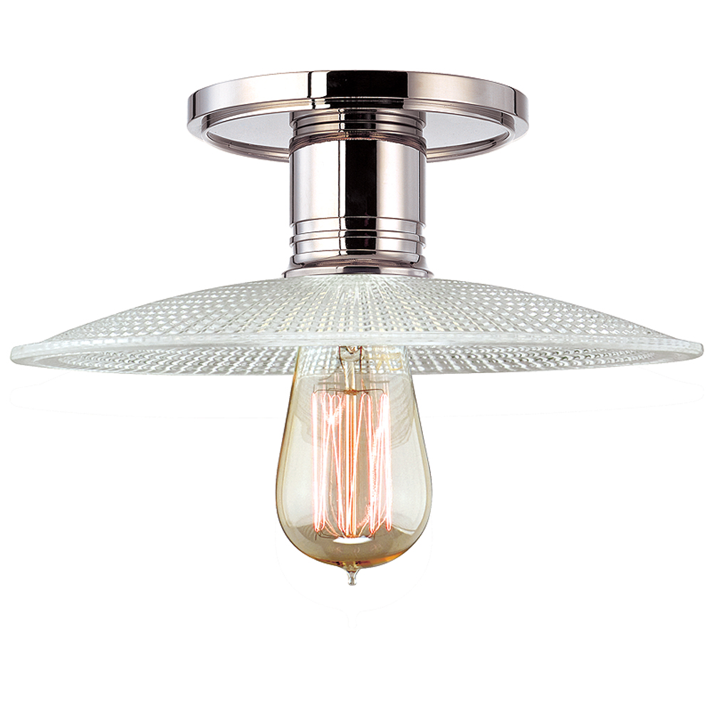 Hudson Valley 8100-PN-GS4 1 LIGHT SEMI FLUSH