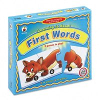 carson-dellosa learning to read! first words puzzle game, ages 3 and up