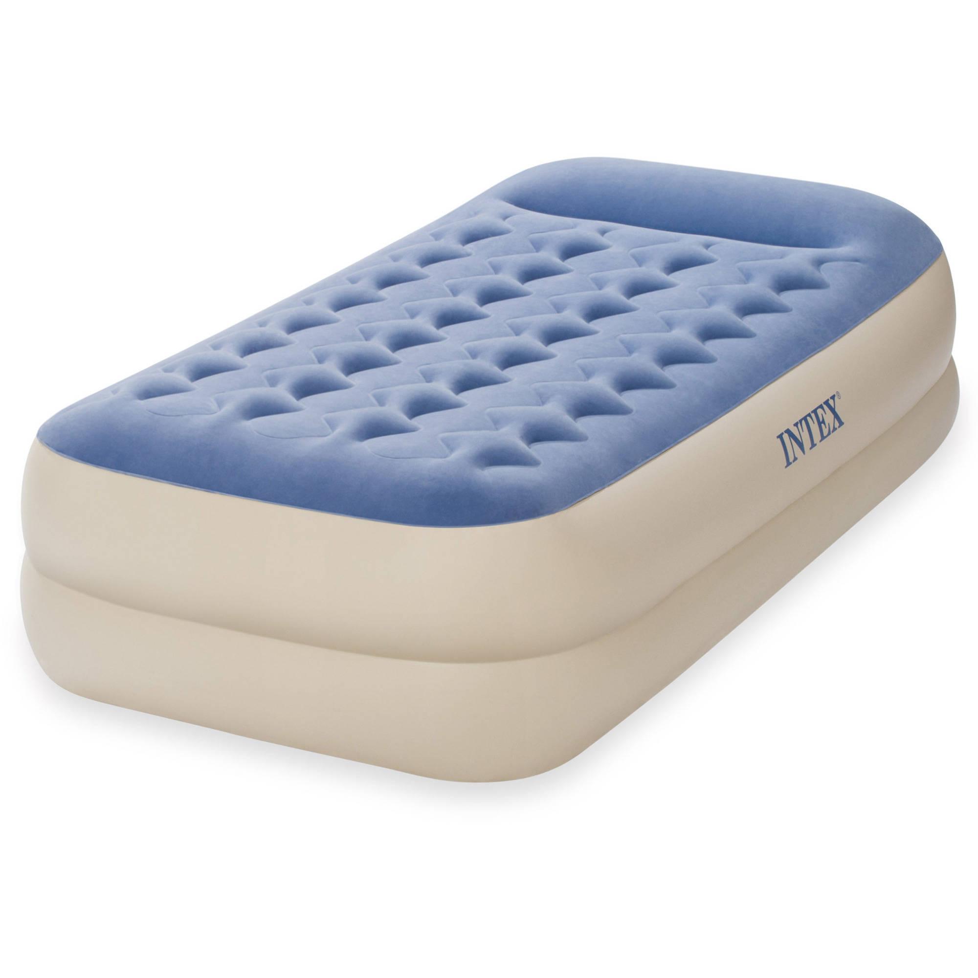 "Intex Twin 18"" Dura-Beam Standard Raised Pillow Rest Airbed Mattress"