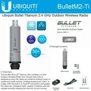 Ubiquiti BulletM2-Ti BM2-Ti Bullet M2HP Titanium 2.4GHz Outdoor Wrls Radio PoE