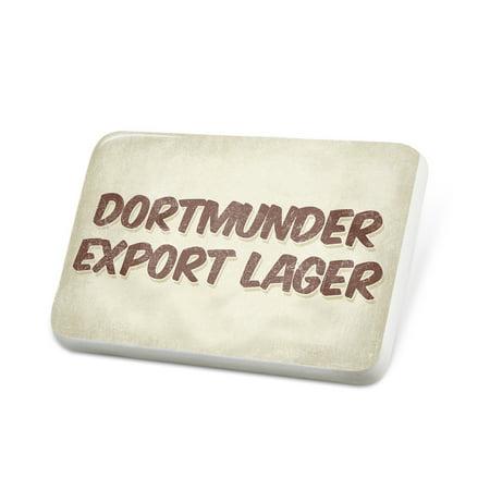 Porcelein Pin Dortmunder Export Lager Beer, Vintage style Lapel Badge – (Export Lager Beer)