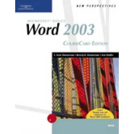 New Perspectives on Microsoft Office Word 2003, Brief, Coursecard Edition - Microsoft Office 2003 Brief