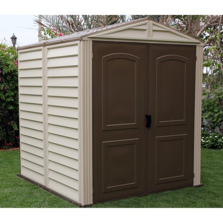 Duramax Woodside Vinyl Shed with Floor - 6 x 6 ft. Duramax Vinyl Outdoor Shed