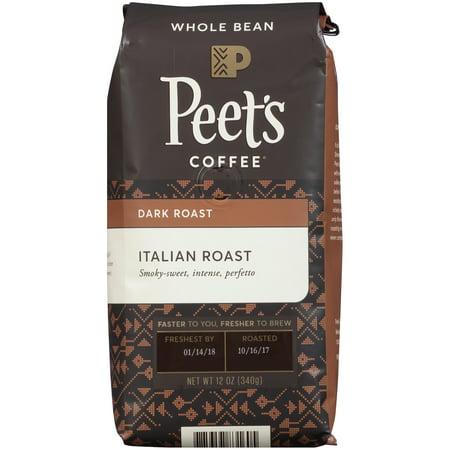 Peets Coffee Dark Roast Italian Whole Bean12oz Bag