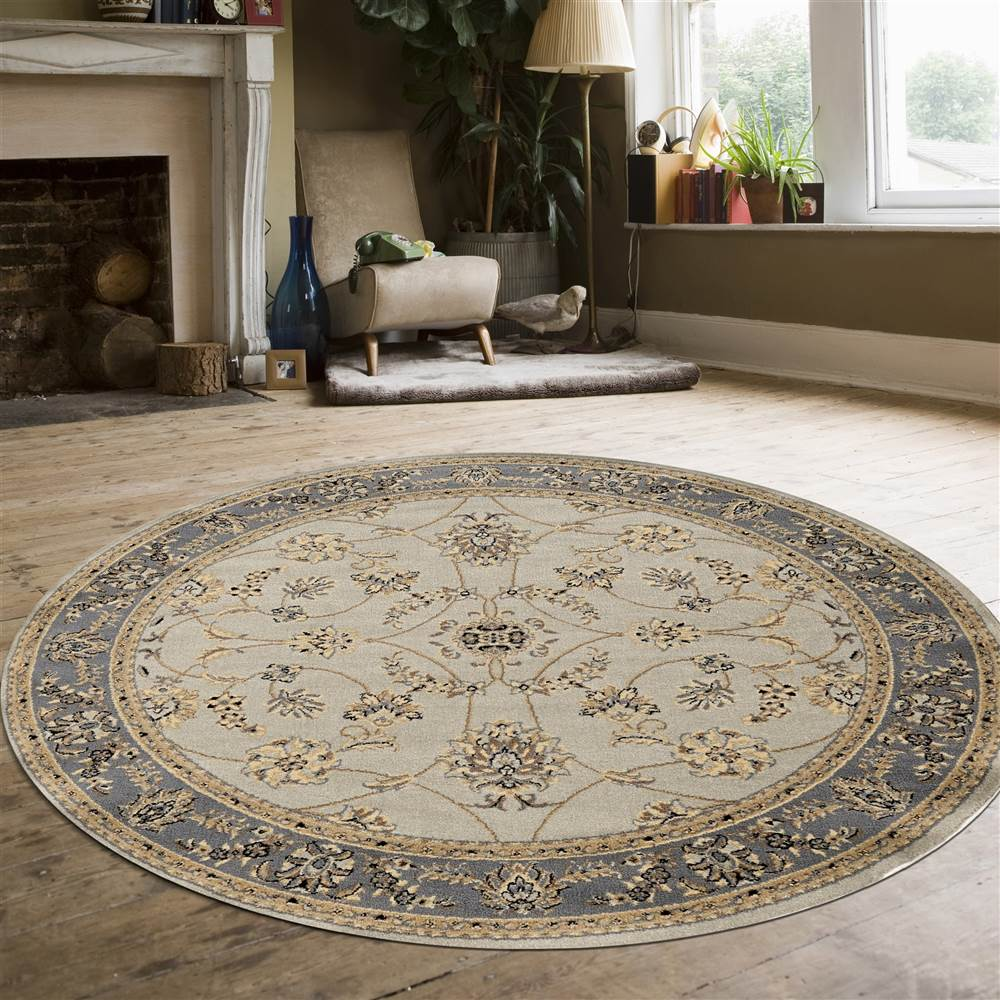 Round Area Rug in Green