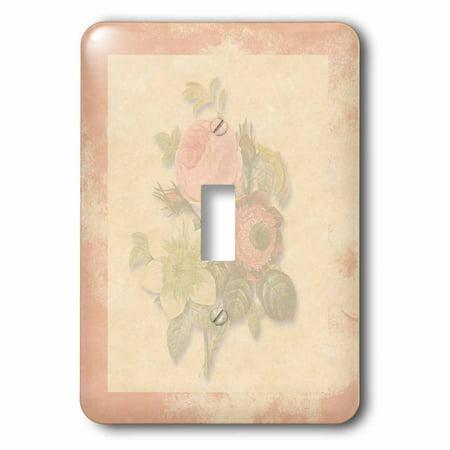 3dRose Soft Pink Victorian Roses, Antique look Background Pink Frame, Light pastel - Single Toggle