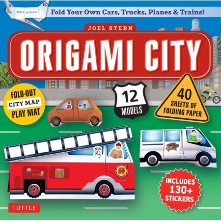 (Origami City Kit : Fold Your Own Cars, Trucks, Planes & Trains!: Kit Includes Origami Book, 12 Projects, 40 Origami Papers, 130 Stickers and City Map)