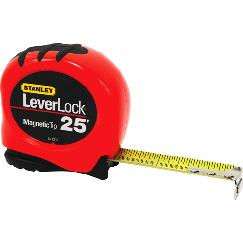 Stanley 25' Magnetic Fractional Tape Measure, 33-270